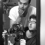 DOP Sam Goldwater and Director Alex Winterbotham confer (THE LIST, 2011)